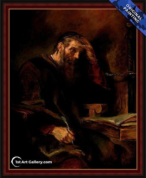 The Apostle Paul Painting by Rembrandt Van Rijn - Original Painting