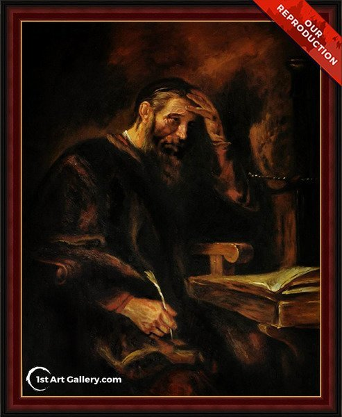 The Apostle Paul Painting by Rembrandt Van Rijn - Oil Reproduction
