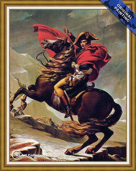 Napoleon Crossing the Alps 2 Painting by Jacques Louis David - Original Painting