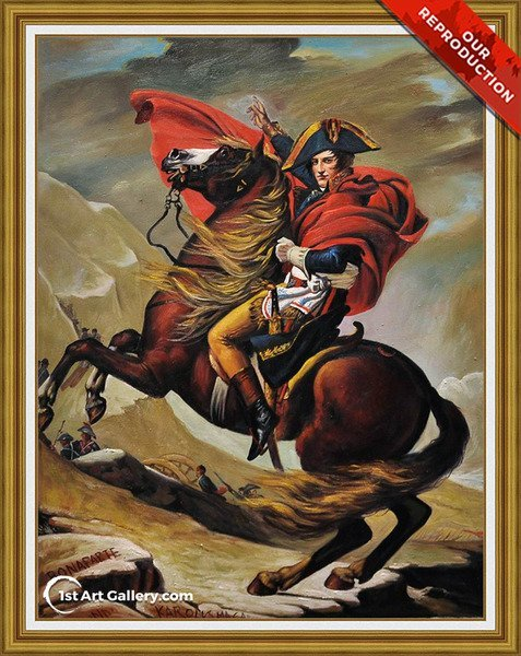 Napoleon Crossing the Alps 2 Painting by Jacques Louis David - Oil Reproduction