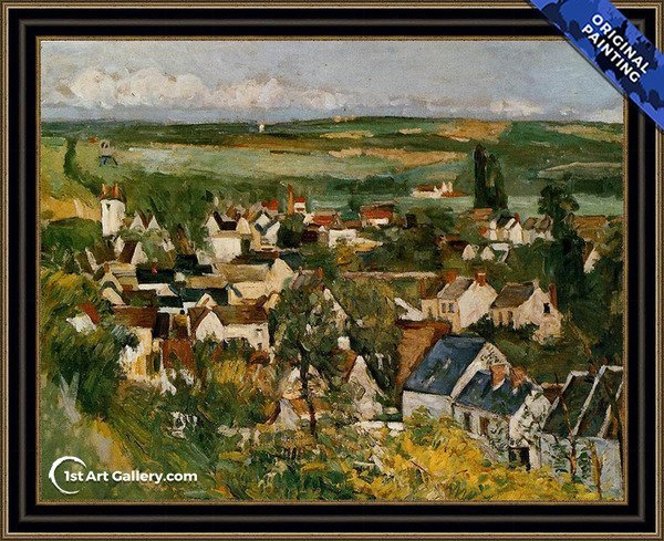 View Of Auvers Sur Oise Painting by Paul Cezanne - Original Painting