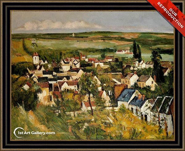View Of Auvers Sur Oise Painting by Paul Cezanne - Oil Reproduction