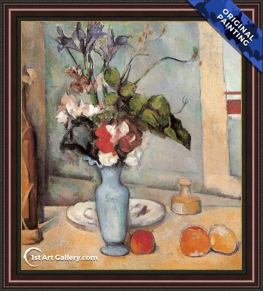 Blue Vase Painting by Paul Cezanne - Original Painting