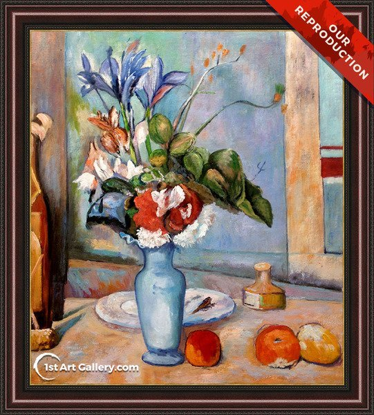 Blue Vase Painting by Paul Cezanne - Oil Reproduction