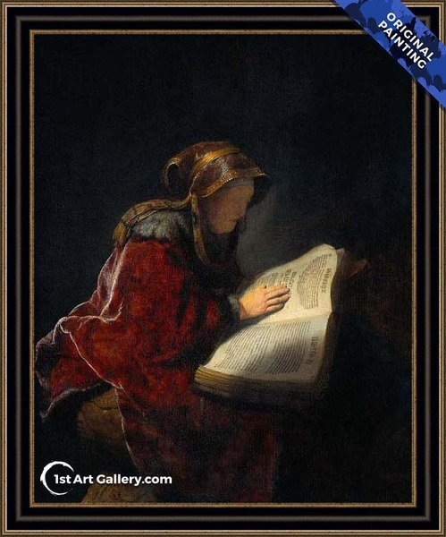 The Prophetess Anna (known as 'Rembrandt's Mother') Painting by Rembrandt Van Rijn - Original Painting