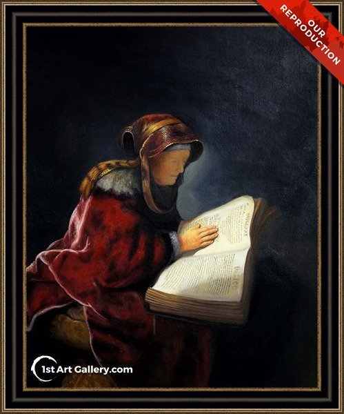 The Prophetess Anna (known as 'Rembrandt's Mother') Painting by Rembrandt Van Rijn - Oil Reproduction