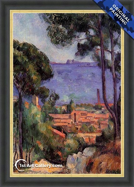 View Through The Trees Painting by Paul Cezanne - Original Painting