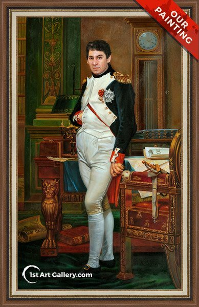 Custom portrait of a man in Napoleon style