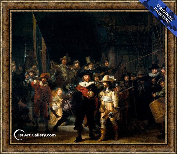 The NightWatch Painting by Rembrandt Van Rijn - Original Painting