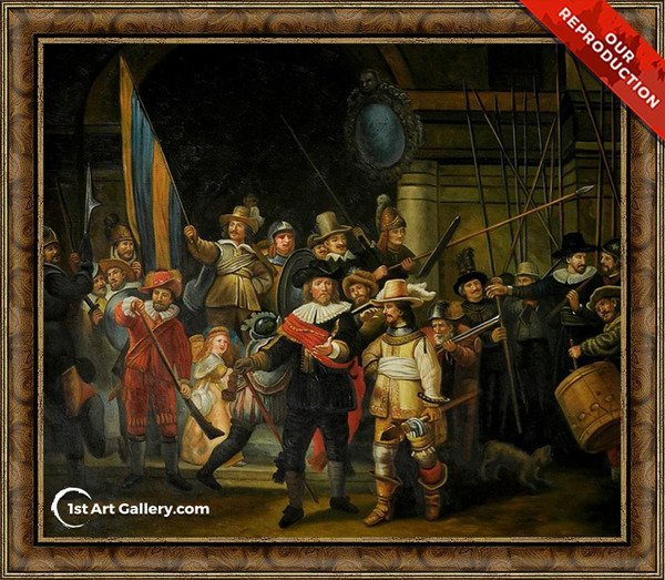 The NightWatch Painting by Rembrandt Van Rijn - Oil Reproduction