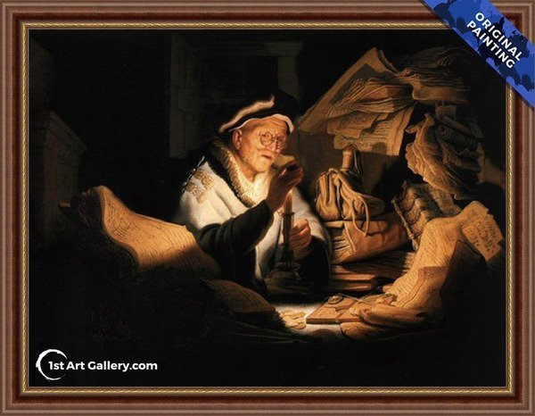 The Money Changer Painting by Rembrandt Van Rijn - Original Painting