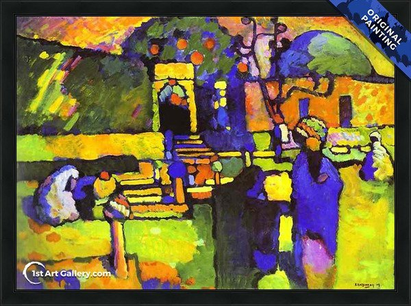 Arabs I Cemetery Painting by Wassily Kandinsky - Original Painting