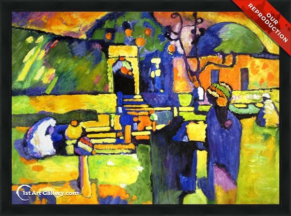 Arabs I Cemetery Painting by Wassily Kandinsky - Oil Reproduction