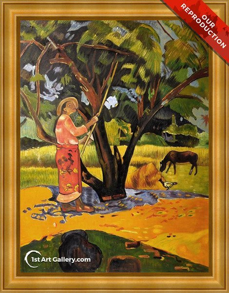 Meu Taporo Aka Picking Lemons Painting by Paul Gauguin - Oil Reproduction