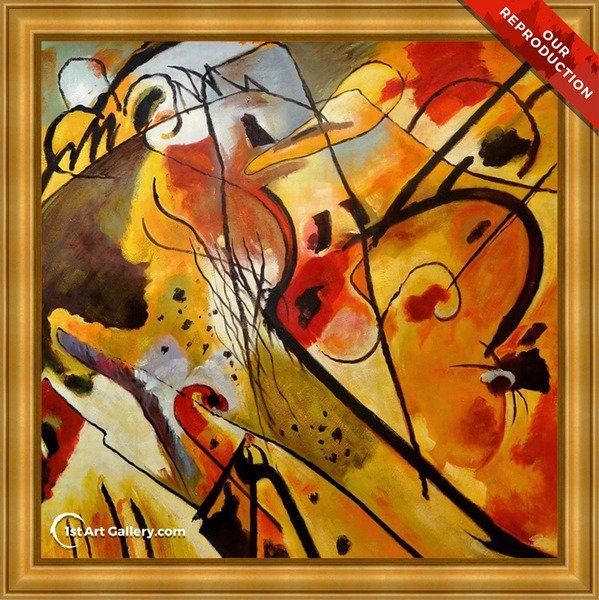 Improvisation 23 Painting by Wassily Kandinsky - Oil Reproduction