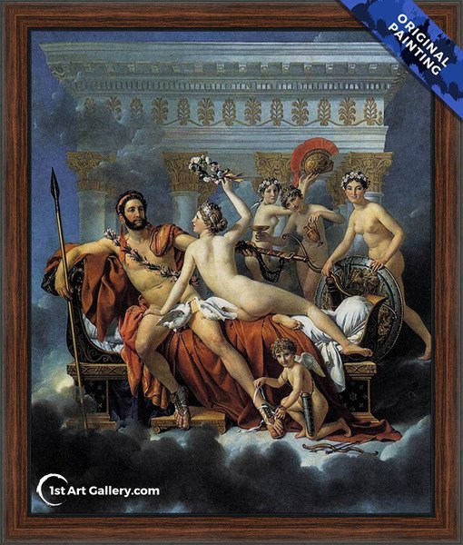 Mars Disarmed by Venus and the Three Graces Painting - Original Painting