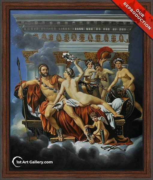 Mars Disarmed by Venus and the Three Graces Painting - Oil Reproduction