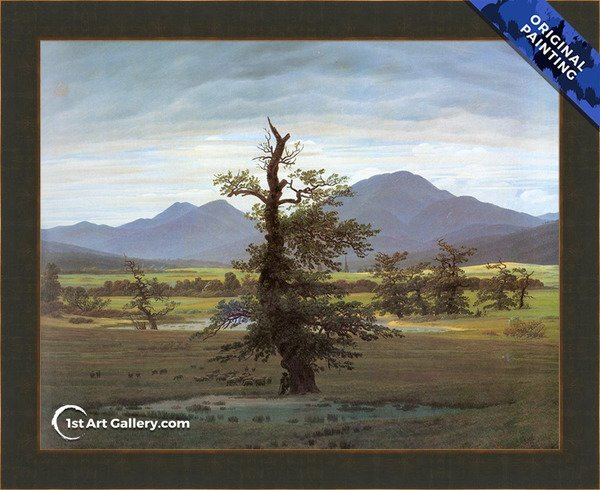 Landscape With Solitary Tree Painting by Caspar David Friedrich - Original Painting