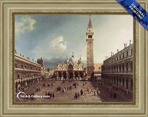 Piazza San Marco With The Basilica Painting - Original Painting