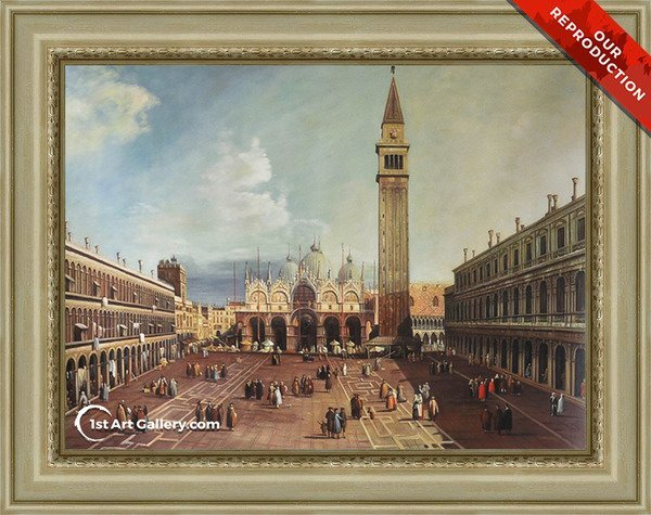 Piazza San Marco With The Basilica Painting - Oil Reproduction
