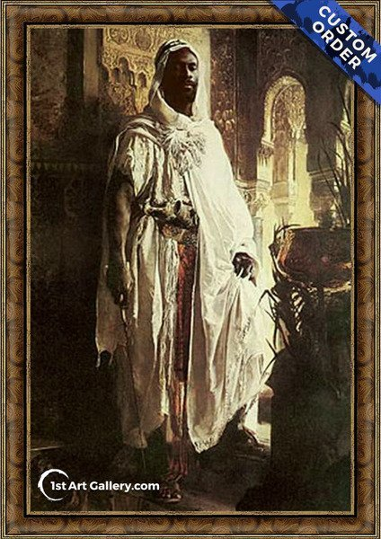 The Moorish Chief Painting by Eduard Charlemont - Original Painting