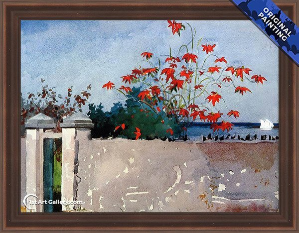 A Wall, Nassau Painting by Winslow Homer - Original Painting