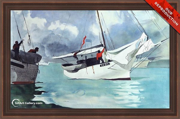 Fishing Boats, Key West Painting by Winslow Homer - Oil Reproduction