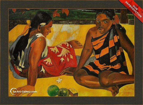 Parau Api Aka What News Painting by Paul Gauguin - Oil Reproduction
