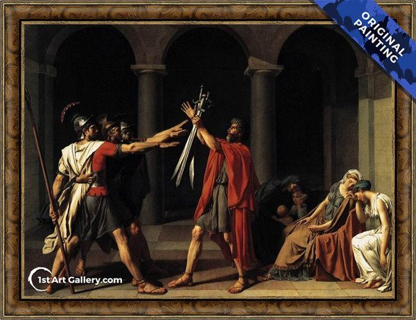 The Oath of the Horatii Painting by Jacques Louis David - Original Painting