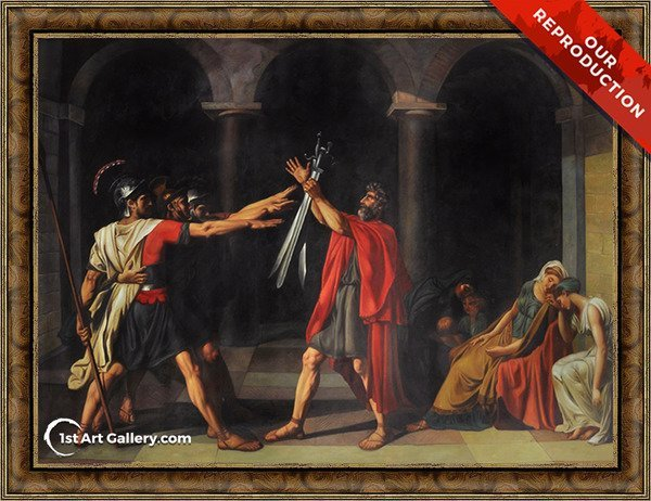 The Oath of the Horatii Painting by Jacques Louis David - Oil Reproduction
