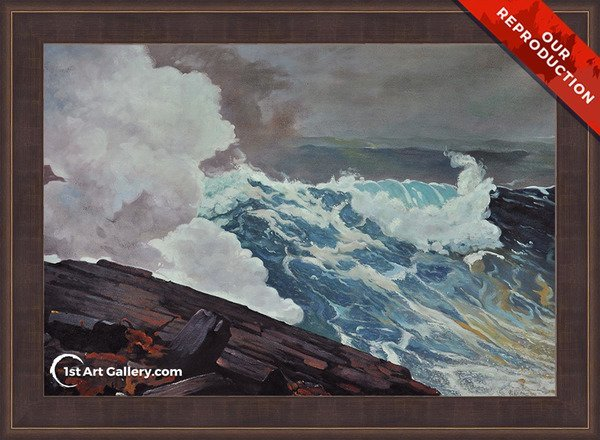 Northeaster Painting by Winslow Homer - Oil Reproduction