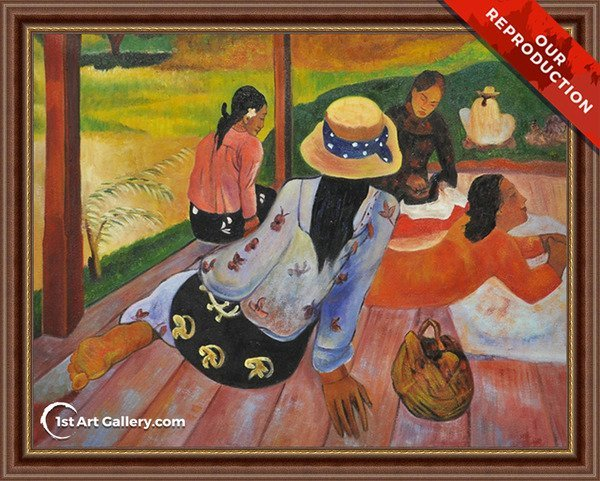 The Siesta Painting by Paul Gauguin - Oil Reproduction
