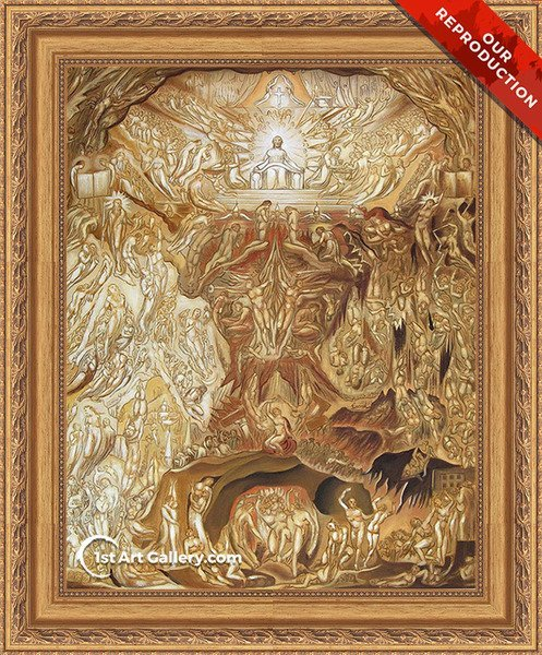 Last Judgement Painting by William Blake - Oil Reproduction