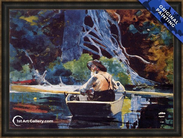 The Adirondack Guide Painting by Winslow Homer - Original Painting