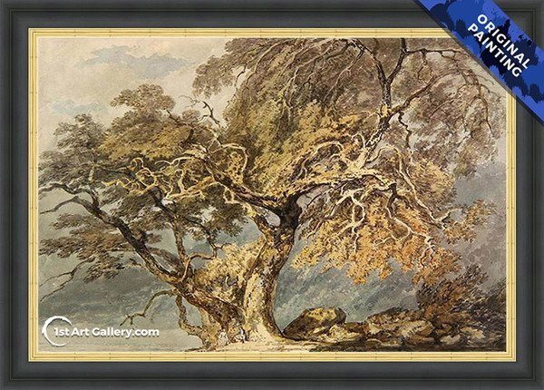 A Great Tree Painting by Turner - Original Painting