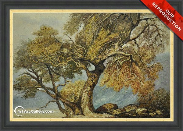 A Great Tree Painting by Turner - Oil Reproduction
