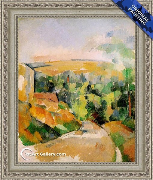 A Bend In The Road Painting by Paul Cezanne - Original Painting