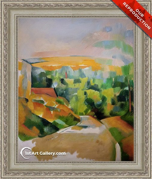 A Bend In The Road Painting by Paul Cezanne - Oli Reproduction