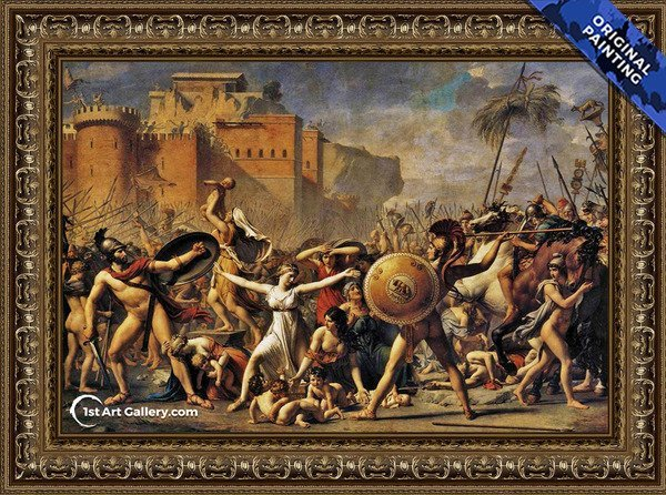 The Intervention of the Sabine Women Painting - Original Painting