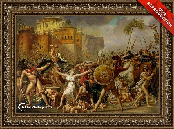 The Intervention of the Sabine Women Painting - Oil Reproduction