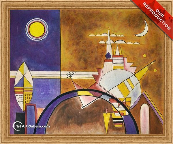 Picture XVI The Great Gate Of Kiev Painting by Wassily Kandinsky - Oil Reproduction