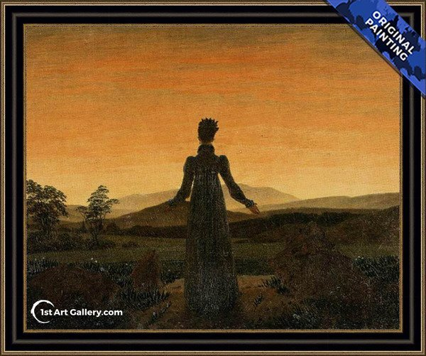 Woman before the Rising Sun Painting - Original Painting