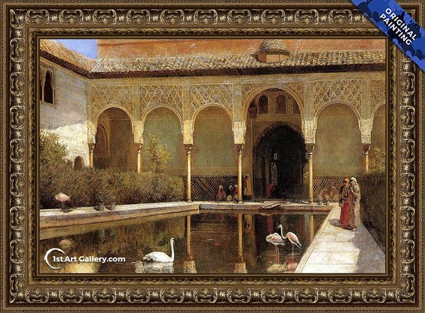 A Court In The Alhambra In The Time Of The Moors Painting - Original Painting