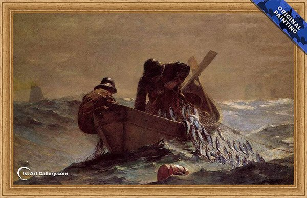 The Herring Net Painting by Winslow Homer - Original Painting