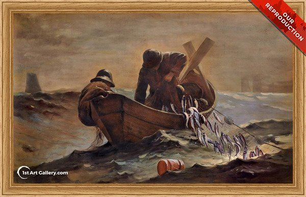 The Herring Net Painting by Winslow Homer - Oil Reproduction