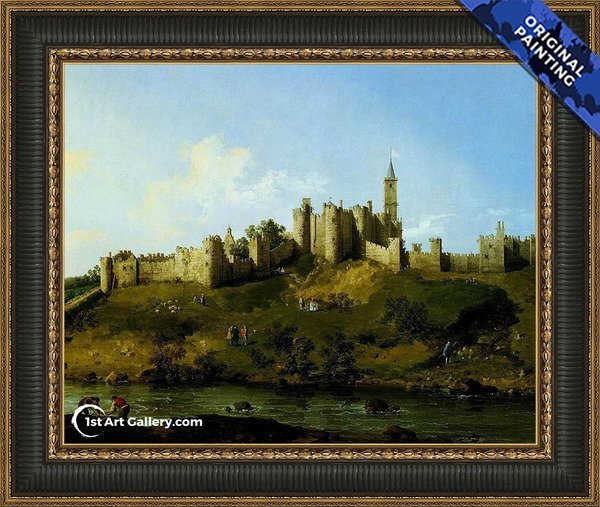 Alnwick Castle at Northumberland Painting - Original Painting
