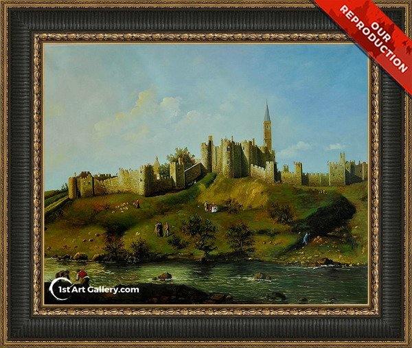 Alnwick Castle at Northumberland Painting - Oil Reproduction