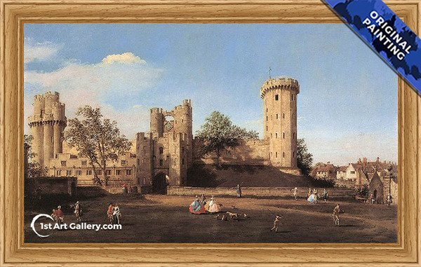 Warwick Castle The East Front Painting by Giovanni Antonio Canal - Original Painting