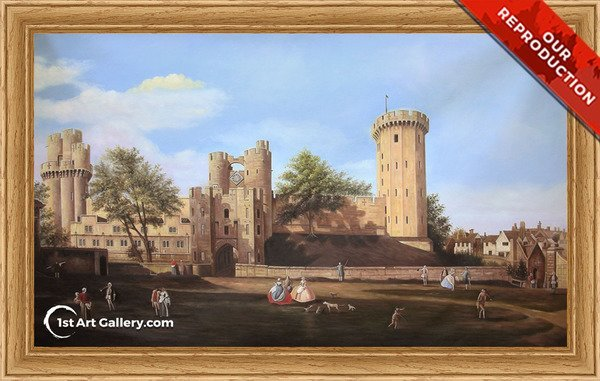 Warwick Castle The East Front Painting by Giovanni Antonio Canal - Oil Reproduction