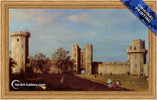 Warwick Castle 2 Painting by Giovanni Antonio Canal - Original Painting